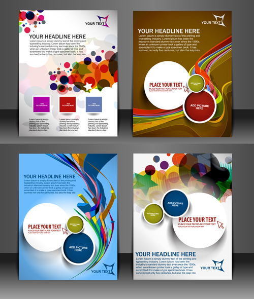 brochure templates cdr file free download - modern templates flyer cover vector 02 vector cover free