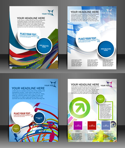 Modern templates flyer cover vector 03 vector cover free for Brochure templates cdr file free download