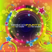 Music disco party flyer design vector material 07