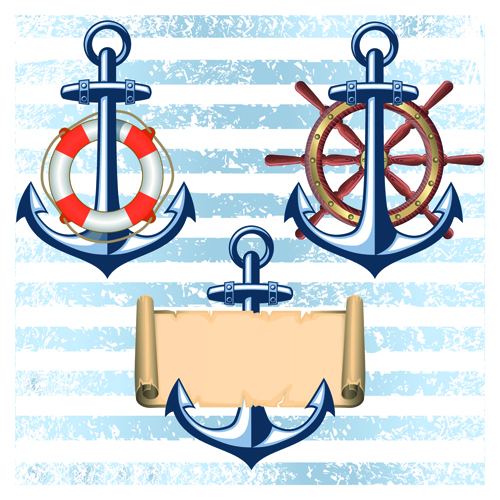 Nautical elements and retro background vector 02 over millions nautical elements and retro background vector 02 pronofoot35fo Image collections