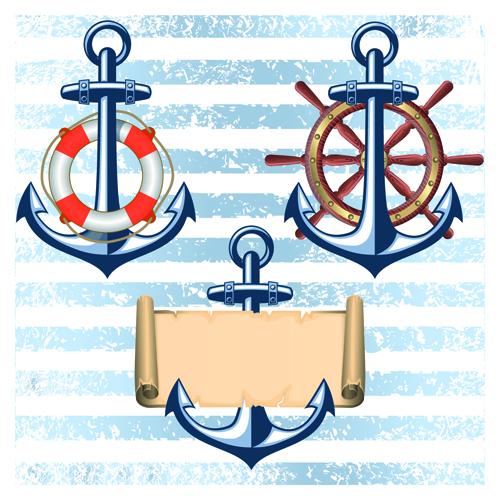 Nautical elements and retro background vector 02 over millions nautical elements and retro background vector 02 toneelgroepblik Image collections