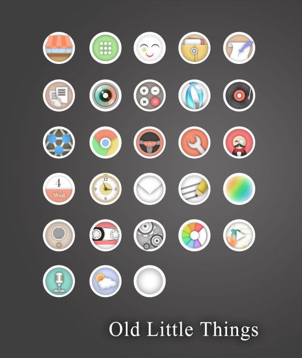 Old little things app icons
