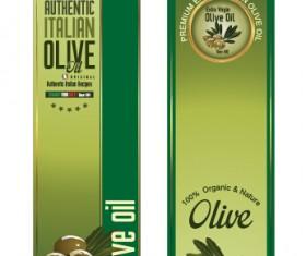 Olive oil vertical banner vector 01