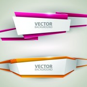 Link toOrigami colored banner graphics vector 01