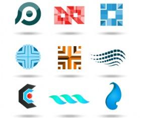 Original design colored logos vector material 01