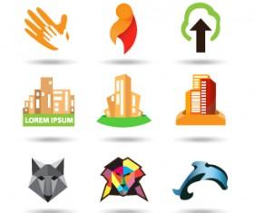Original design colored logos vector material 02