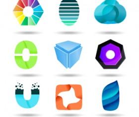Original design colored logos vector material 03