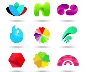 Original design colored logos vector material 04