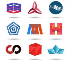 Original design colored logos vector material 05