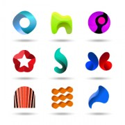 Link toOriginal design colored logos vector material 07