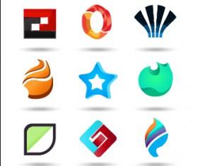 Original design colored logos vector material 08
