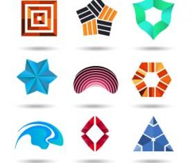 Original design colored logos vector material 09