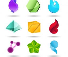 Original design colored logos vector material 10