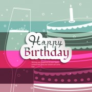 Link toOutline cup and cake happy birthday background vector