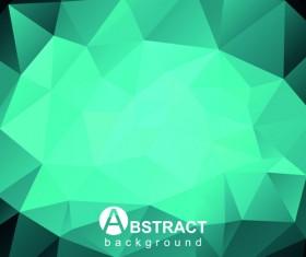 Polygon embossment effect background vector 04
