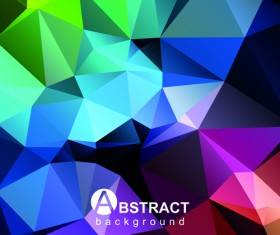 Polygon embossment effect background vector 05
