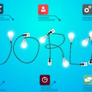Link toPower supply with light bulb creative business template 05