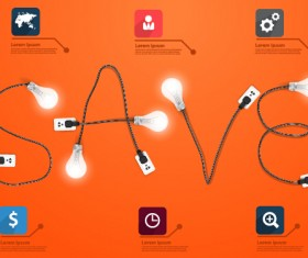 Power supply with light bulb creative business template 08