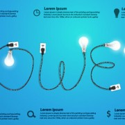 Link toPower supply with light bulb creative business template 09