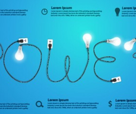 Power supply with light bulb creative business template 09