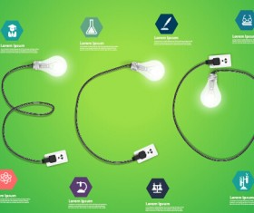 Power supply with light bulb creative business template 10