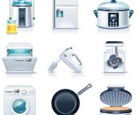 Realistic household appliances vector illustration 05