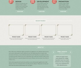 Retro flat style website template pad