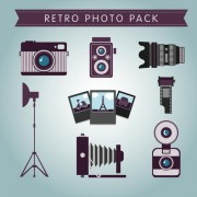 Link toRetro photo pack vector material