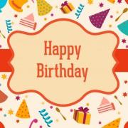 Link toRetro style frame happy birthday background