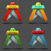 Link toRibbon shape logos design elements vector 01