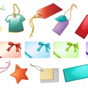 Link toShiny blank tags and gift cards vector