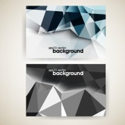 Link toShiny geometric shapes business cards vector 01