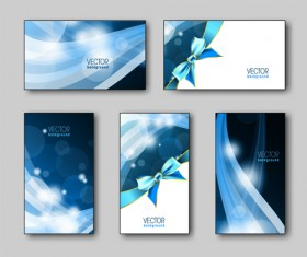 Shiny gifts cards creative vector set 04