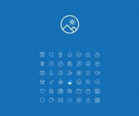 System mini line icons
