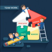 Team work business template design graphics