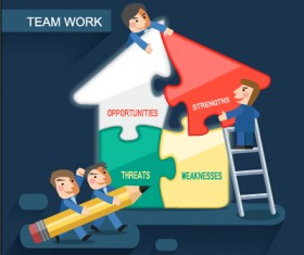 Team work business template design graphics