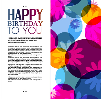 Template Birthday Greeting Card Vector Material 06 - Vector