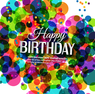 Template Birthday Greeting Card Vector Material 10 Over Millions