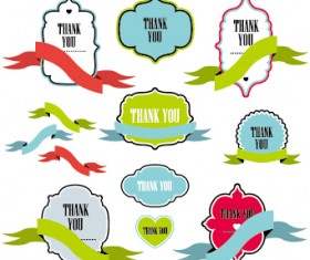Text frame labels with ribbon vector 02