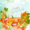 Thanksgiving day harvest background vector 02