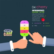 Touch with choose business template vector 01