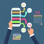 Touch with choose business template vector 02