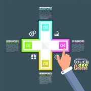 Touch with choose business template vector 03
