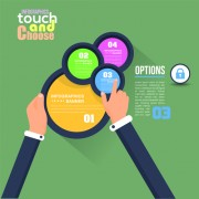 Touch with choose business template vector 04