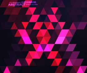 Triangle abstract elements vector background