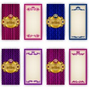 Vip invitation cards template with frame vector 01