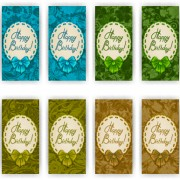 Link toVip invitation cards template with frame vector 04