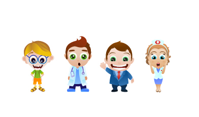 Vector cartoon doctors graphics