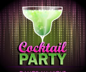 Vector cocktail party poster design graphics set 06
