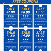 Link toVector set of coupon offer template 02